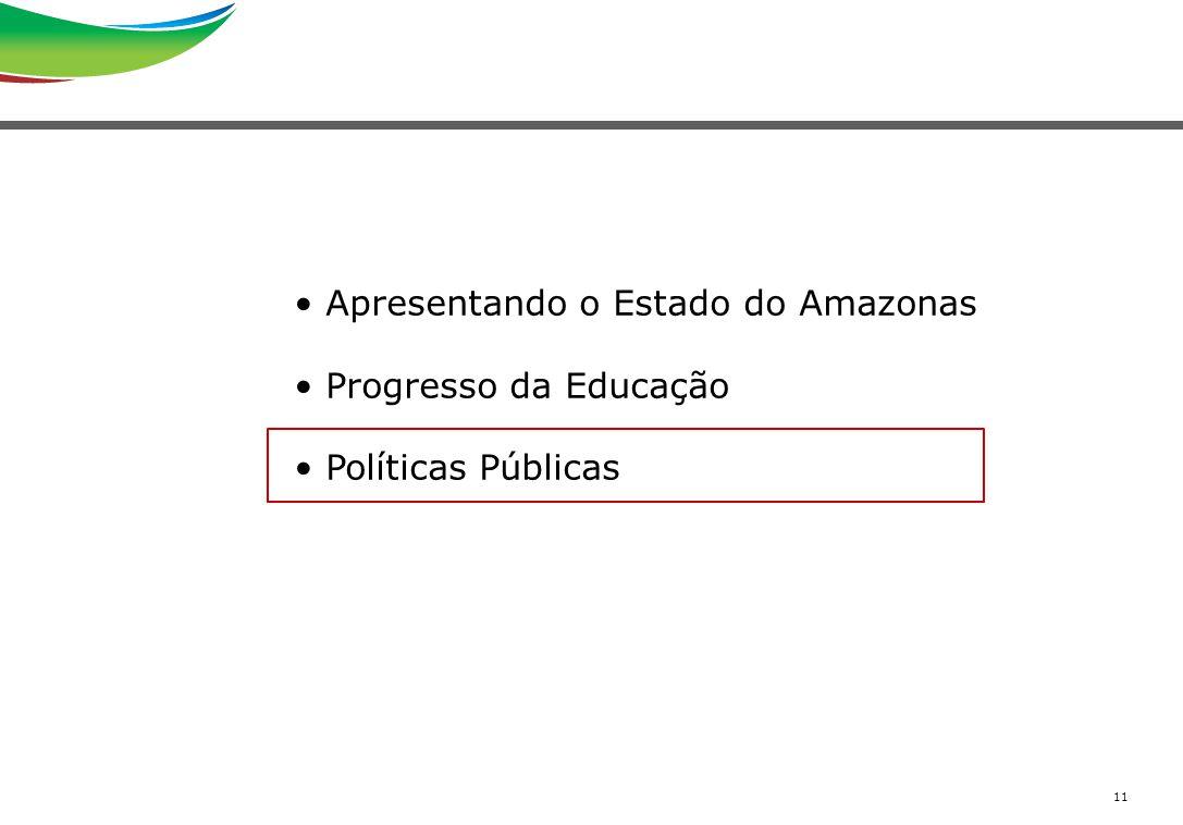 11 Apresentando o Estado do Amazonas Progresso da Educação Políticas Públicas