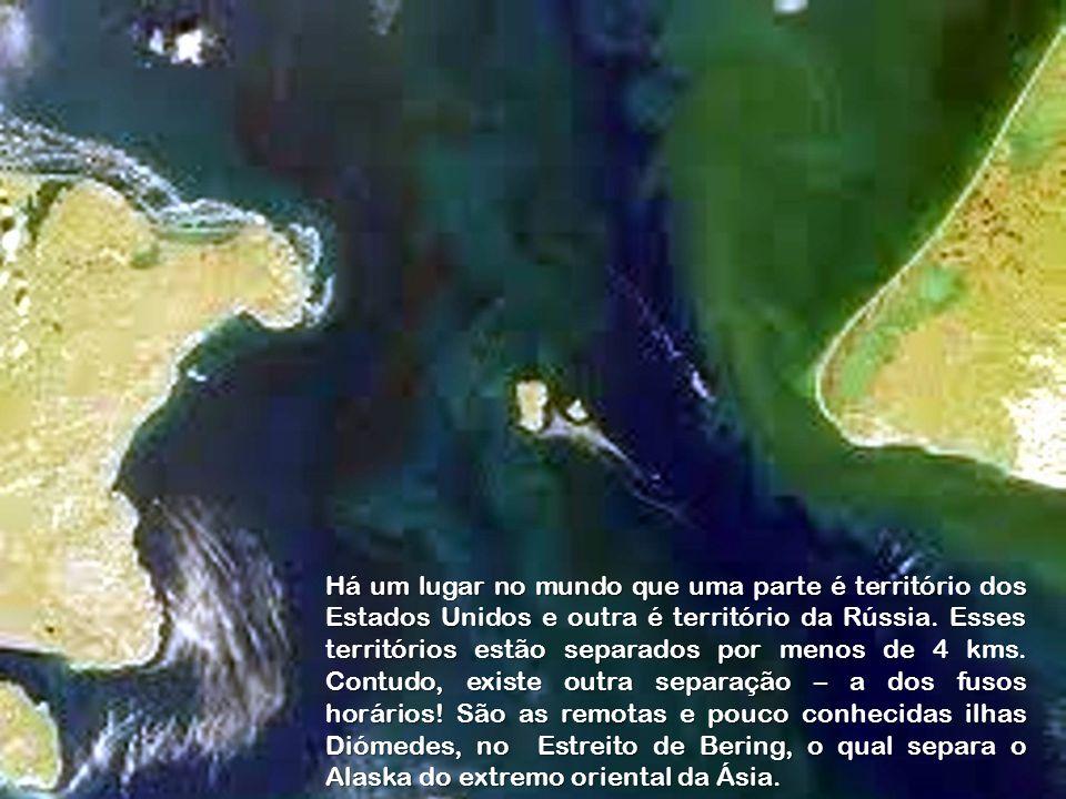 Há um lugar no mundo que uma parte é território dos Estados Unidos e outra é território da Rússia.