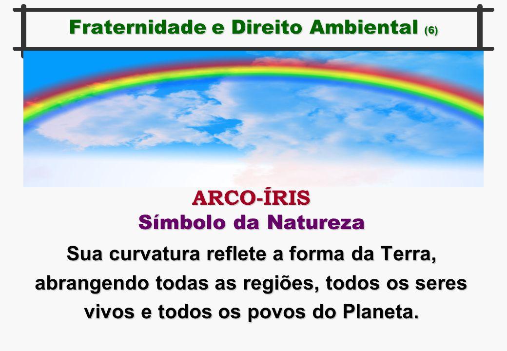 Fraternidade e Direito Ambiental (6) ARCO-ÍRIS Símbolo da Natureza Sua curvatura reflete a forma da Terra, abrangendo todas as regiões, todos os seres