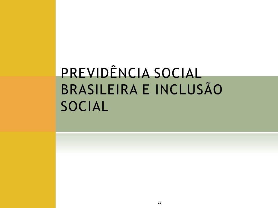 PREVIDÊNCIA SOCIAL BRASILEIRA E INCLUSÃO SOCIAL 23