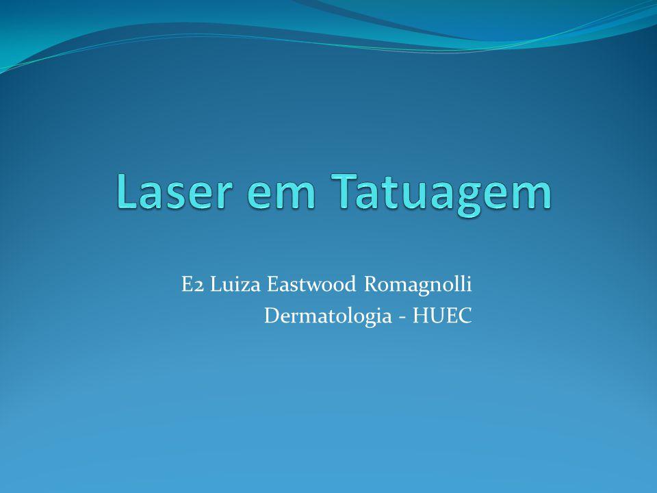 (A) Tatuagem profissional após 11 sessões de laser Rubi Q-S com hipocromia residual; (B) Bom resultado após alguns meses com repigmentação da area hipocrômica