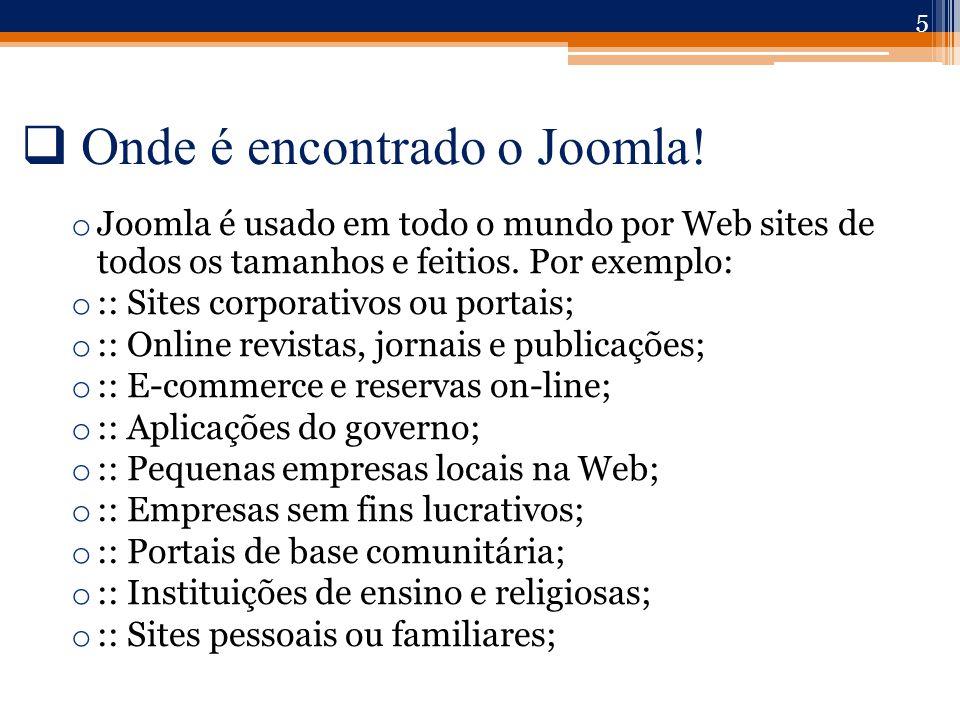  Onde é encontrado o Joomla.
