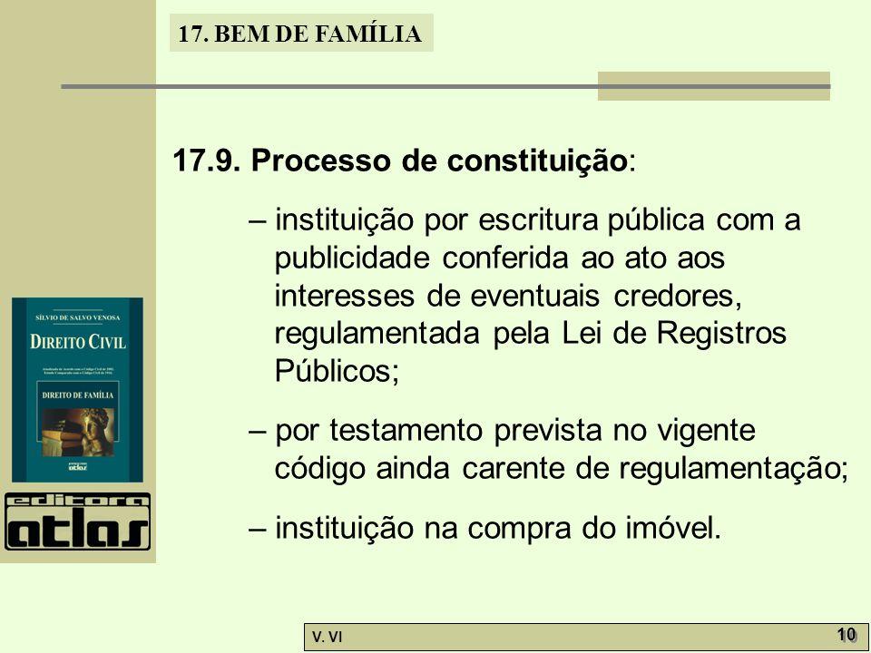 17.BEM DE FAMÍLIA V. VI 10 17.9.