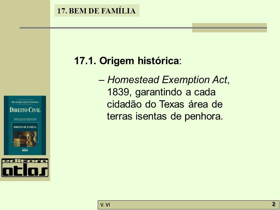 17.BEM DE FAMÍLIA V. VI 2 2 17.1.