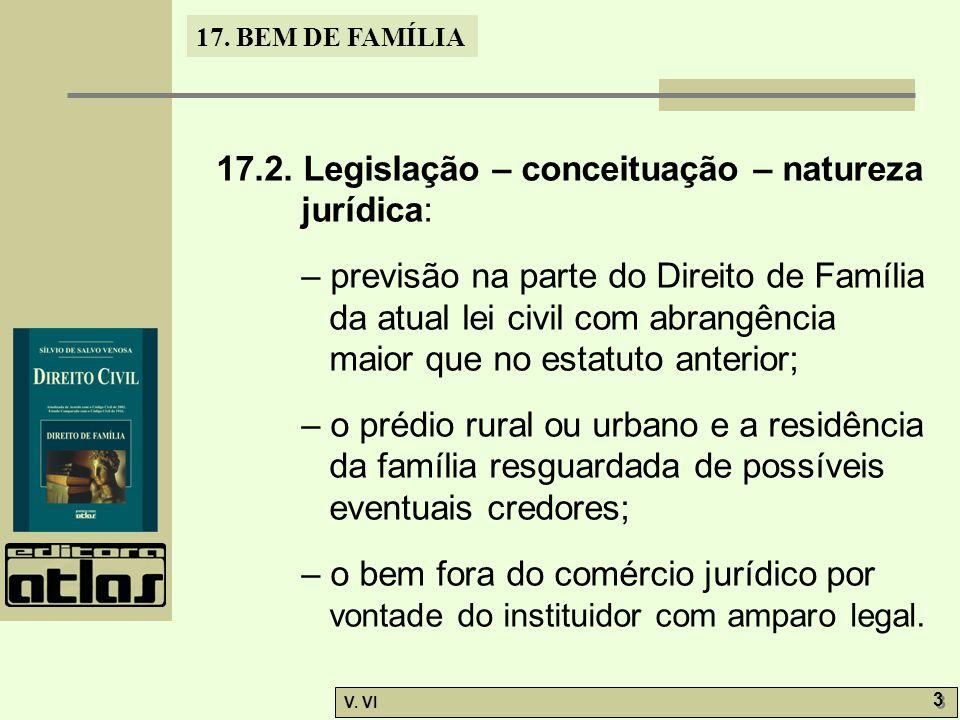 17.BEM DE FAMÍLIA V. VI 3 3 17.2.