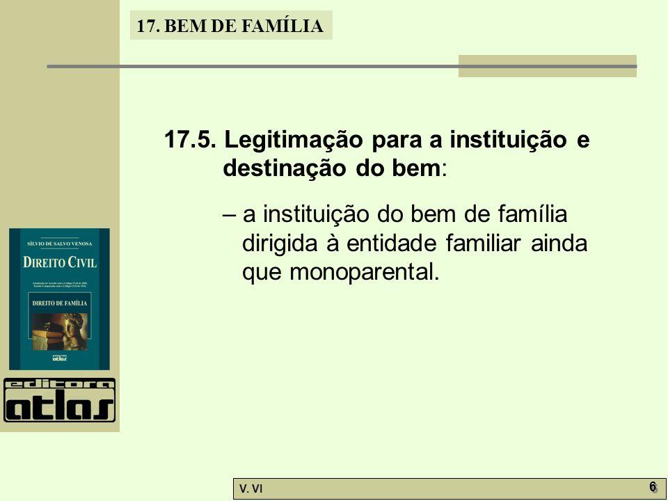 17.BEM DE FAMÍLIA V. VI 6 6 17.5.