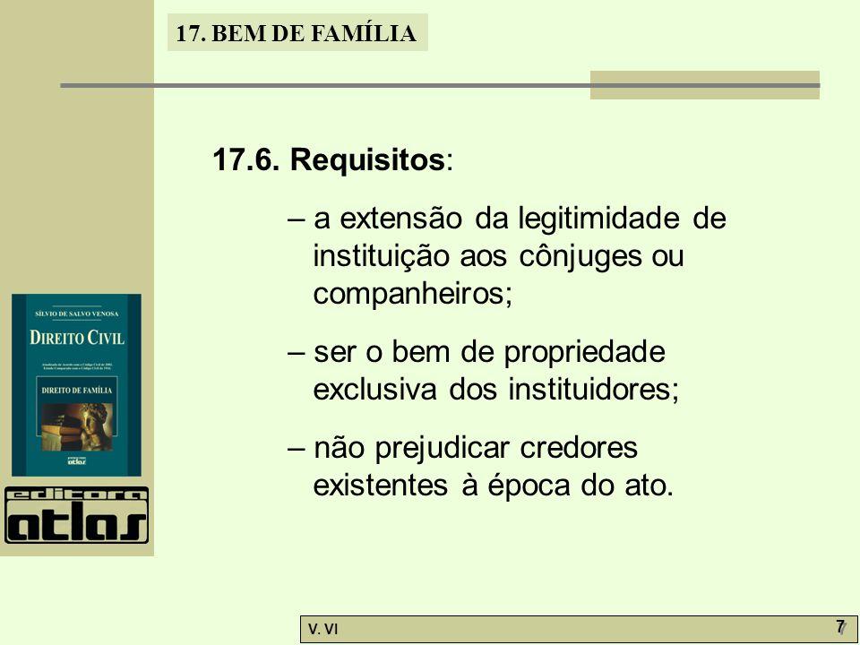 17.BEM DE FAMÍLIA V. VI 7 7 17.6.