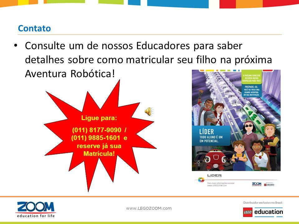 www.LEGOZOOM.com Conclusão do Curso – Certificado e Insígna