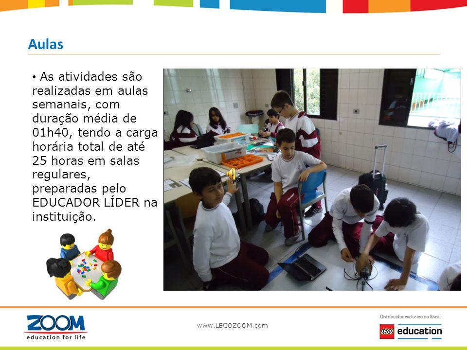 www.LEGOZOOM.com Aventuras Desenvolvido durante o ano letivo, em 6 módulos independentes, durante o prazo de 6 semestres (3 anos), sendo 1 módulo (ave