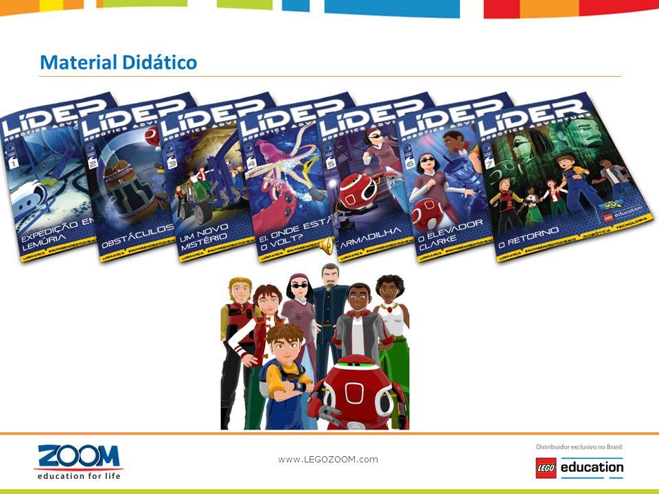 www.LEGOZOOM.com Aventuras Aulas As atividades são realizadas em aulas semanais, com duração média de 01h40, tendo a carga horária total de até 25 hor