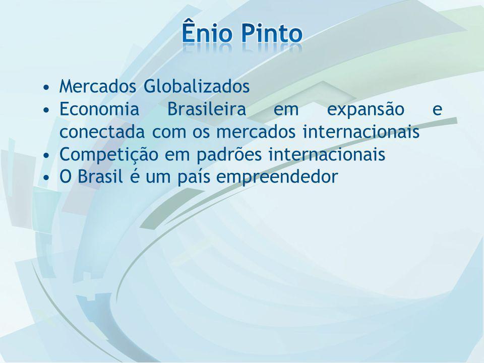 Mercados Globalizados Economia Brasileira em expansão e conectada com os mercados internacionais Competição em padrões internacionais O Brasil é um país empreendedor