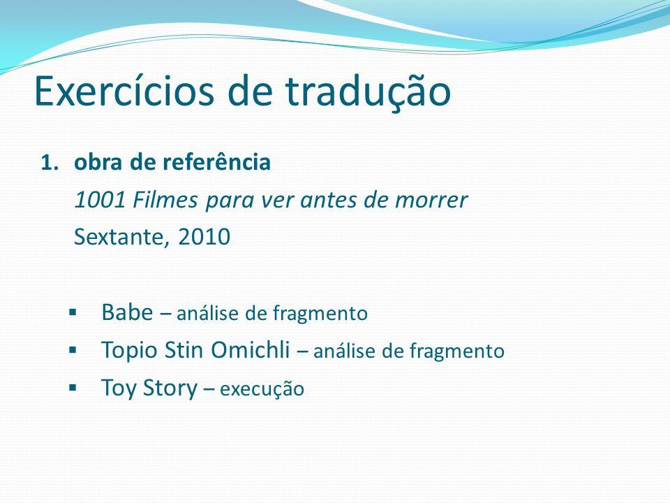 Exercícios de tradução 1.