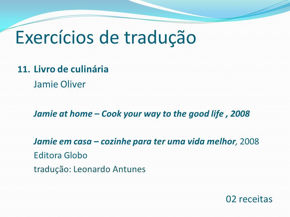 Exercícios de tradução 11.