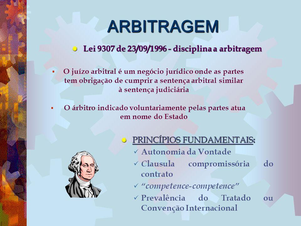 ARBITRAGEM  O juízo arbitral é um negócio jurídico onde as partes tem obrigação de cumprir a sentença arbitral similar à sentença judiciária  O árbi