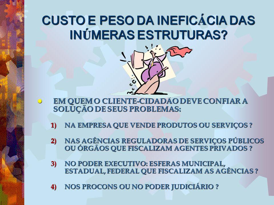 PARÂMETROS PARA AVALIAR A QUALIDADE DA ATUAÇÃO (1) Nº ATENDIMENTOS SUSEP (SEM PROCESSOS = RECLAMAÇÕES INFUNDADAS -> OUVIDORIA MAL DIVULGADA OU DIFÍCIL ACESSO (2) Nº PACs (PROCESSOS ATENDIMENTO) = CONSUMIDORES INSATISFEITOS OU DEMANDAS NÃO RESPONDIDAS NO PRAZO PELA EMPRESA -> INEFICIÊNCIA OPERACIONAL OU FALHA COMUNICAÇÃO (3) RECLAMAÇÕES PROCEDENTES = Nº PAS (PROCESSOS SANCIONADORES) -> INEFICÁCIA DO SISTEMA