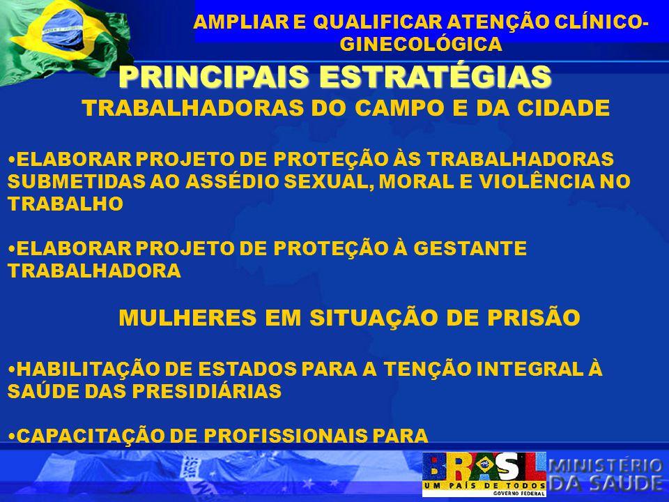FORTALECIMENTO DO CONTROLE SOCIAL PRINCIPAIS ESTRATÉGIAS PROMOVER A INTEGRAÇÃO COM O MOVIMENTO DE MULHERES E FEMINISTAS NO APERFEIÇOAMENTO DA POLÍTICA DE ATENÇÃO INTEGRAL À SAÚDE DA MULHER APOIAR A CAPACITAÇÃO DE LIDERANÇAS DO MOVIMENTO DE MULHERES E FEMINISTAS PARA ATUAÇÃO NAS INSTÂNCIAS DE CONTROLE SOCIAL