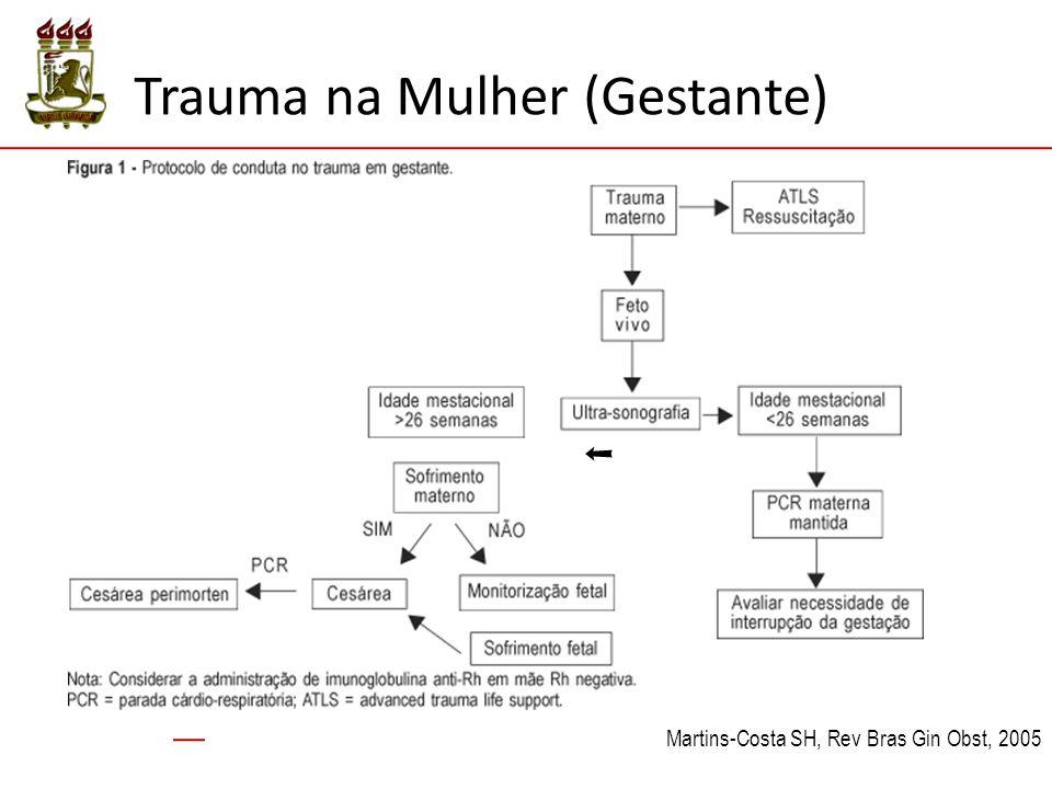 Trauma na Mulher (Gestante) Martins-Costa SH, Rev Bras Gin Obst, 2005 ➝