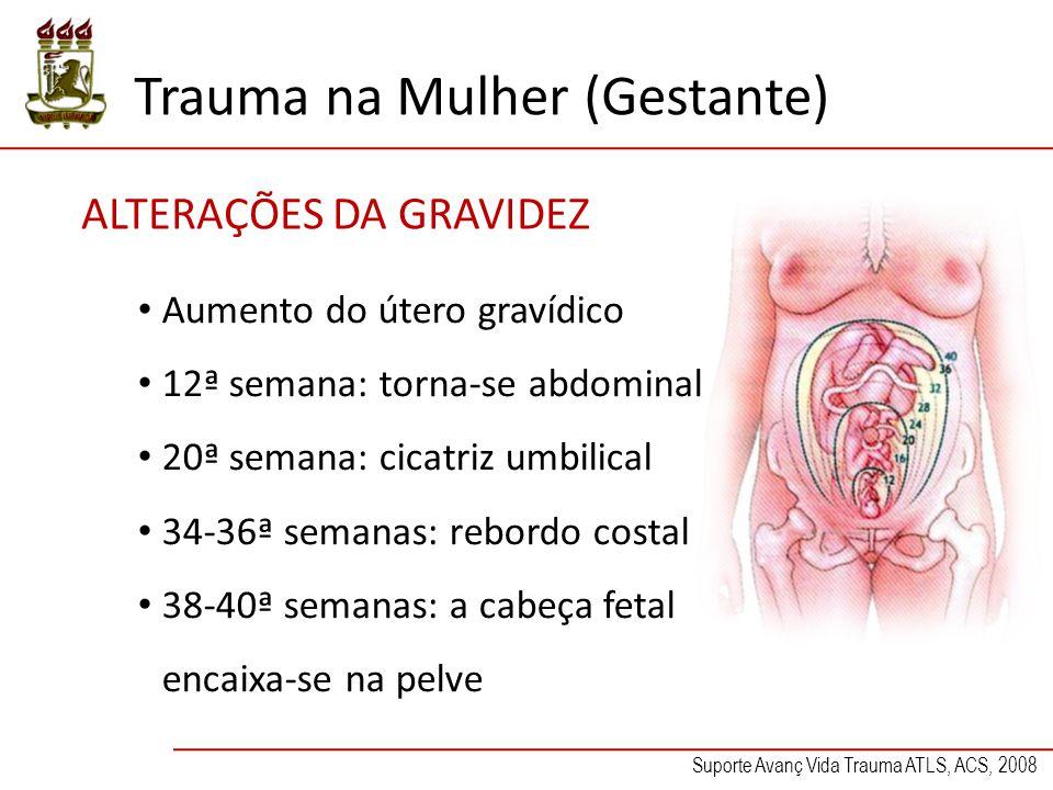 Trauma na Mulher (Gestante) Atendimento do feto Palpação do útero Gravidez Tamanho do útero Idade fetal Contrações uterinas Trabalho de parto Palpação do útero Gravidez Tamanho do útero Idade fetal Contrações uterinas Trabalho de parto