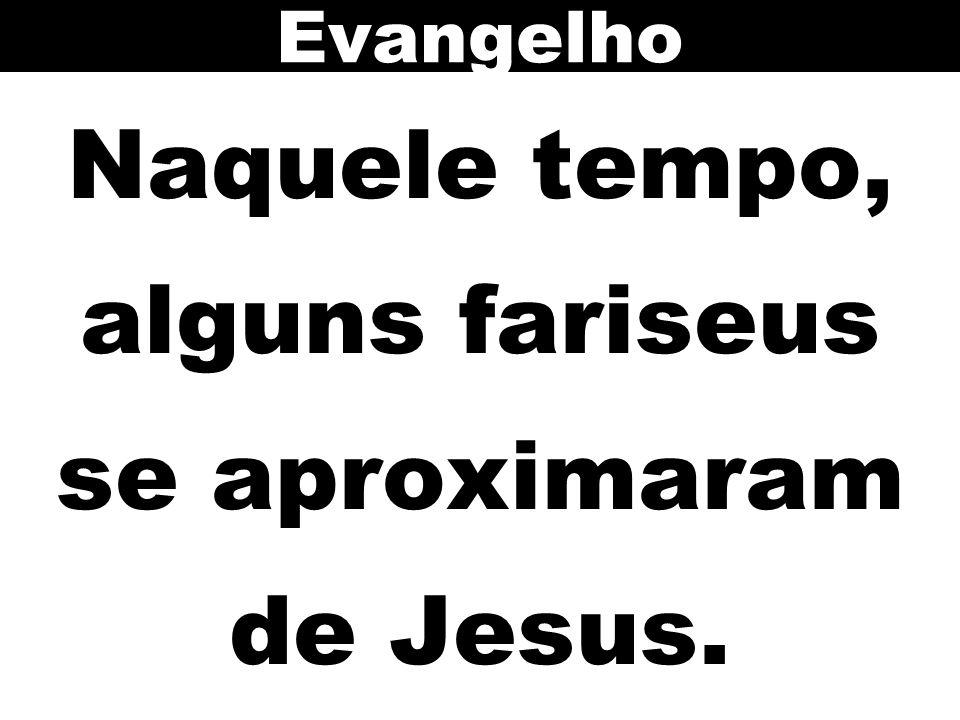 Naquele tempo, alguns fariseus se aproximaram de Jesus. Evangelho