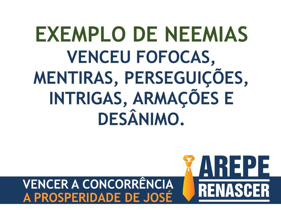 EXEMPLO DE NEEMIAS VENCEU FOFOCAS, MENTIRAS, PERSEGUIÇÕES, INTRIGAS, ARMAÇÕES E DESÂNIMO.