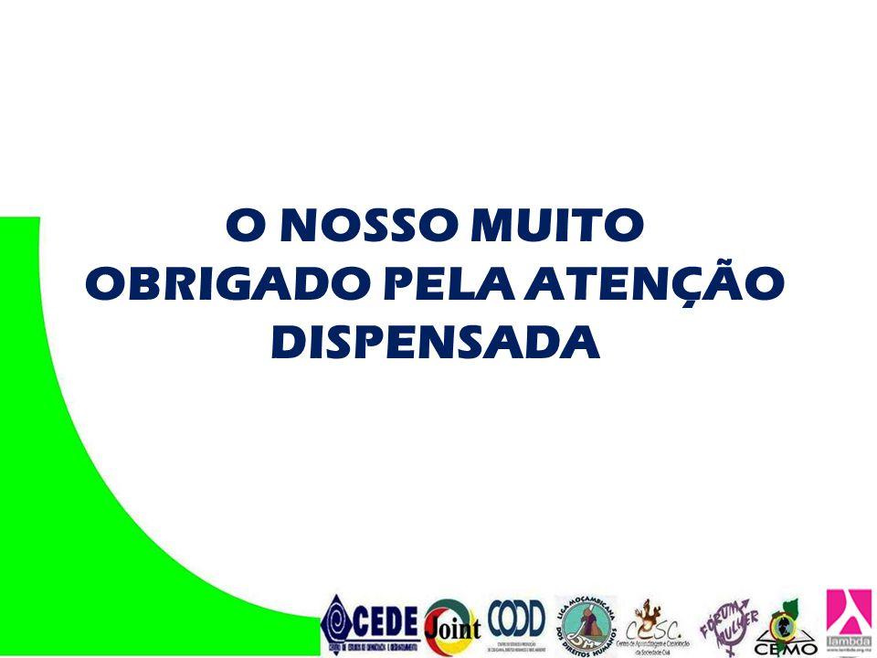 O NOSSO MUITO OBRIGADO PELA ATENÇÃO DISPENSADA