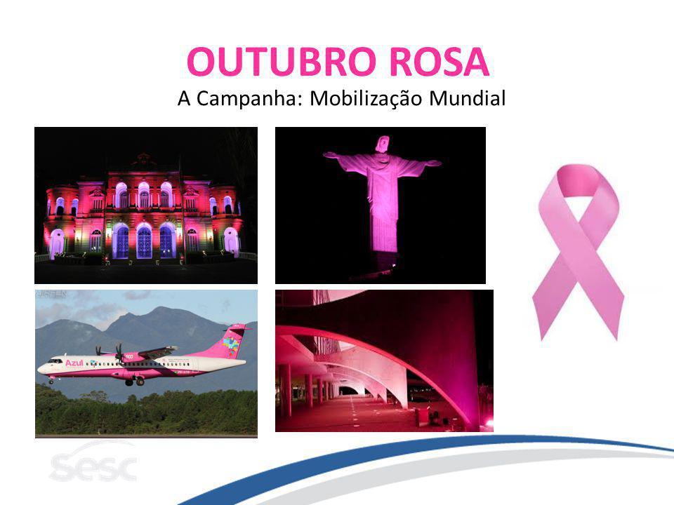 OUTUBRO ROSA A Campanha: Mobilização Mundial
