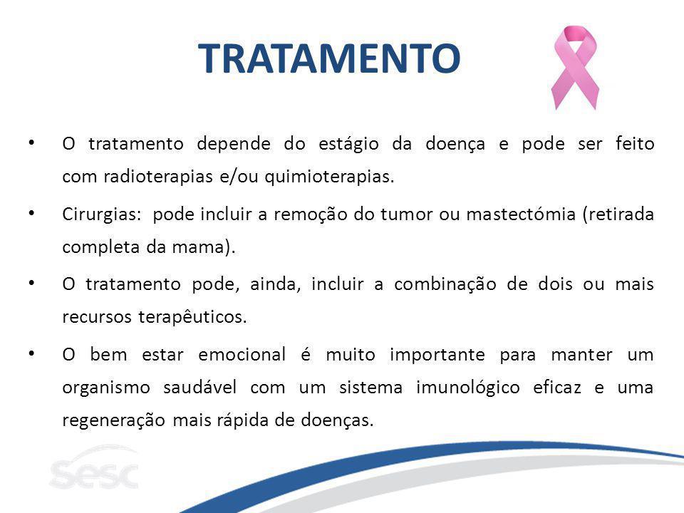 TRATAMENTO O tratamento depende do estágio da doença e pode ser feito com radioterapias e/ou quimioterapias. Cirurgias: pode incluir a remoção do tumo