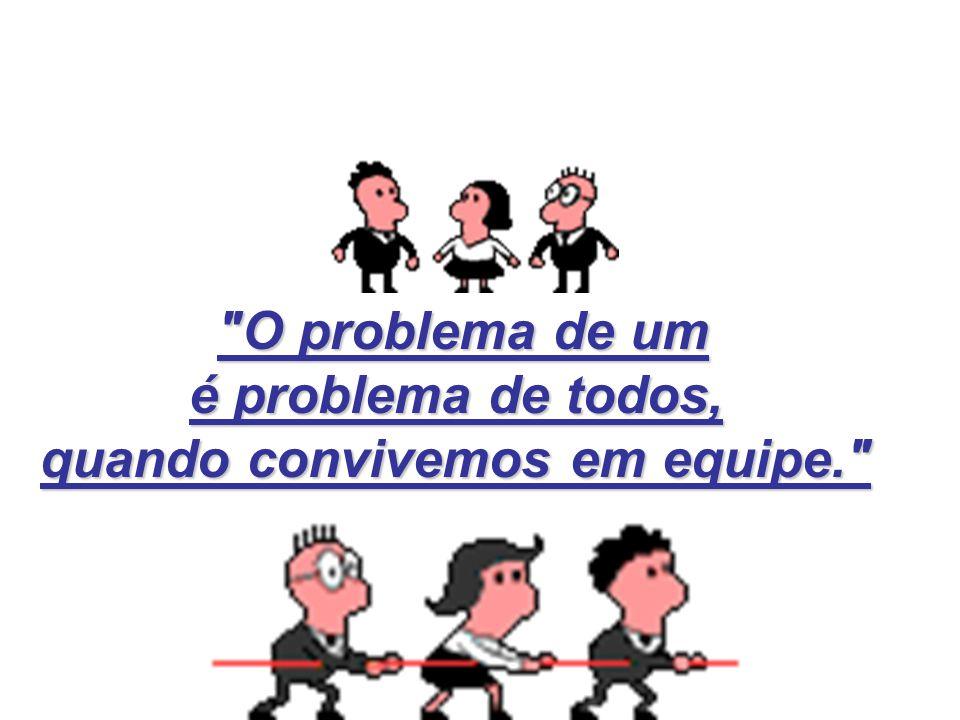 O problema de um O problema de um é problema de todos, é problema de todos, quando convivemos em equipe. quando convivemos em equipe.