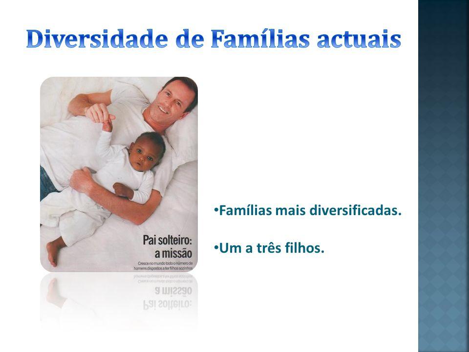 Existe também famílias que devido à evolução de mentalidades e da ciência optam por uma diversidade cultural e racial adoptando crianças de varias etn