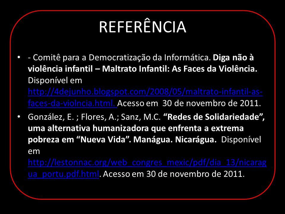 REFERÊNCIA - Comitê para a Democratização da Informática.