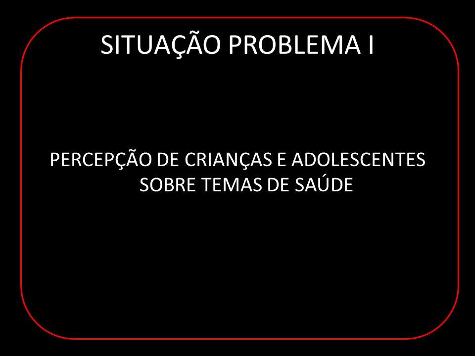 SITUAÇÃO PROBLEMA I PERCEPÇÃO DE CRIANÇAS E ADOLESCENTES SOBRE TEMAS DE SAÚDE