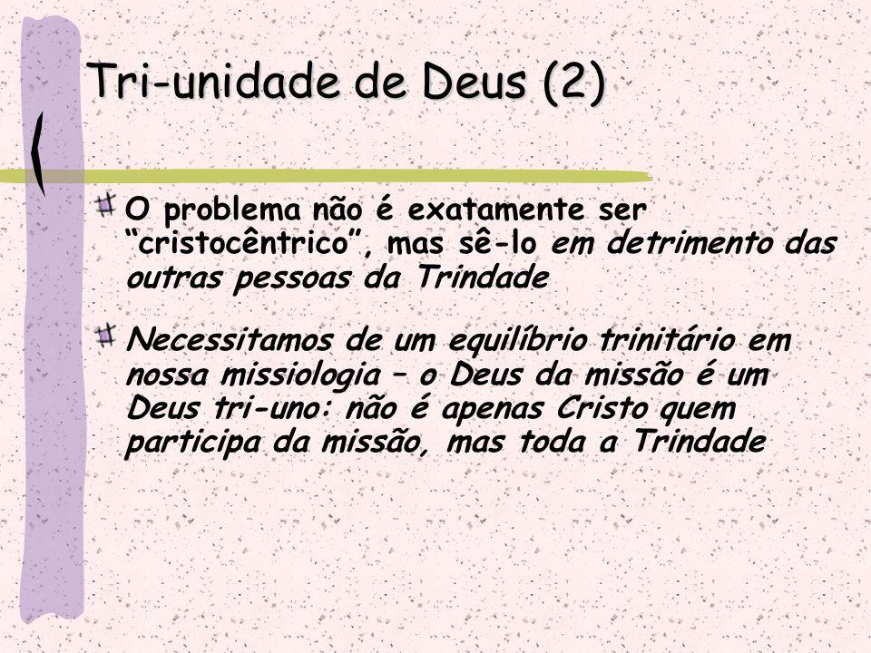 """O problema não é exatamente ser """"cristocêntrico"""", mas sê-lo em detrimento das outras pessoas da Trindade Necessitamos de um equilíbrio trinitário em n"""