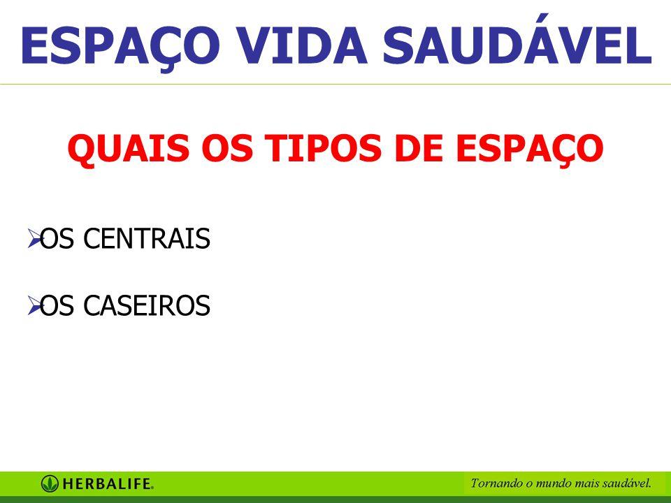 QUAIS OS TIPOS DE ESPAÇO OOS CENTRAIS OOS CASEIROS ESPAÇO VIDA SAUDÁVEL