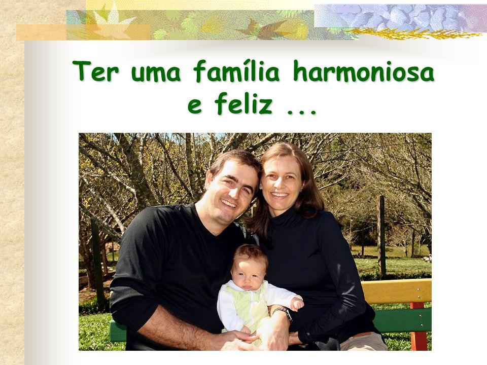 Ter uma família harmoniosa e feliz...