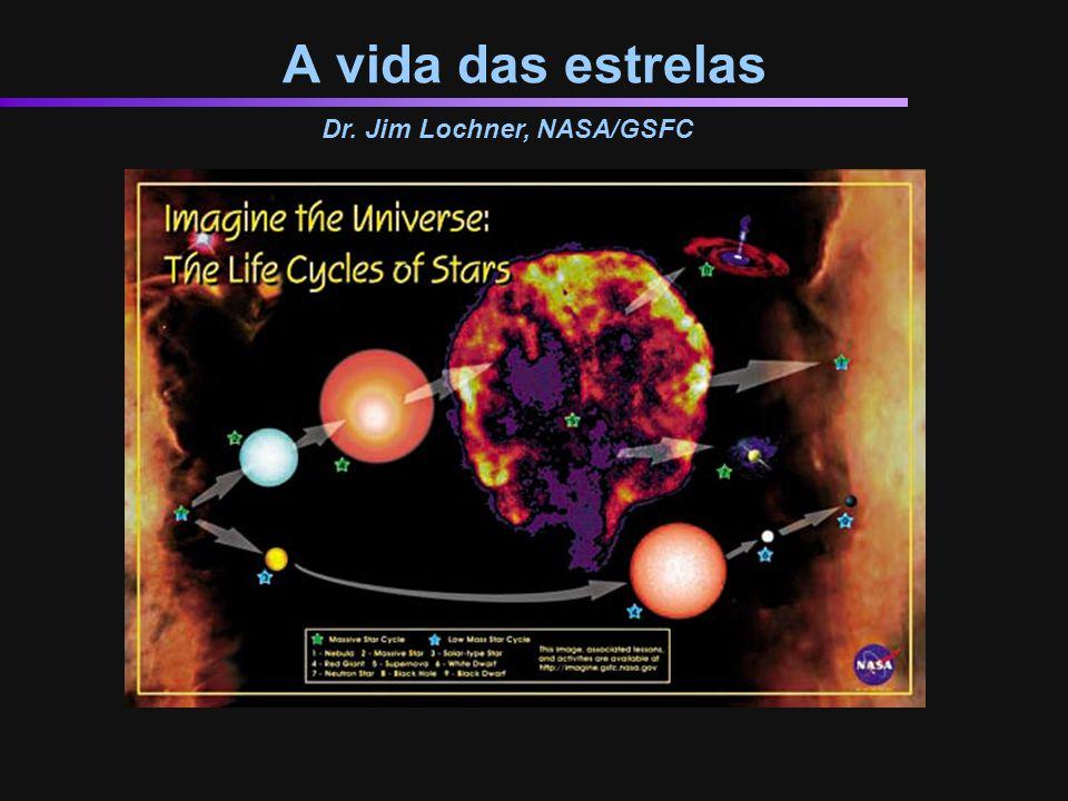 O fim das estrelas massivas As estrelas massivas consomem uma grande quantidade de elementos.
