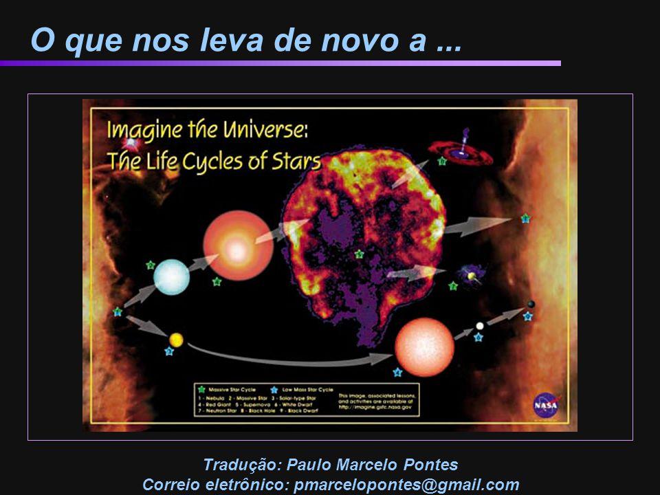 O que nos leva de novo a... Tradução: Paulo Marcelo Pontes Correio eletrônico: pmarcelopontes@gmail.com