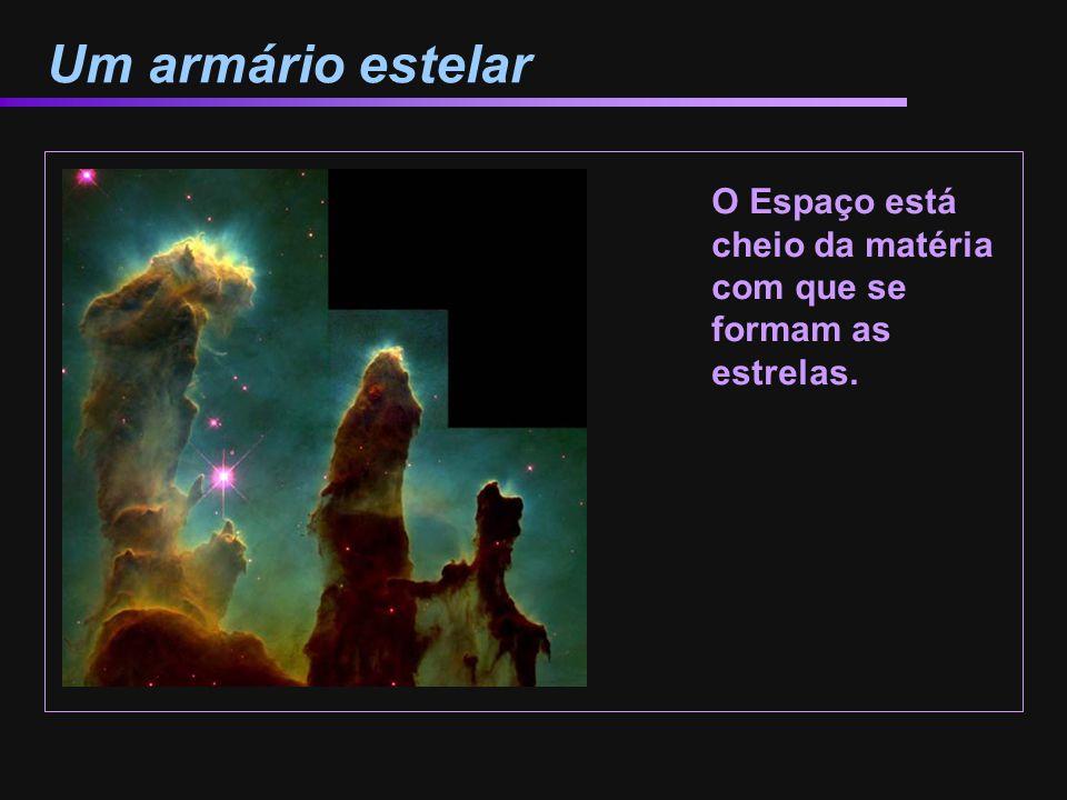 Estrelas nascem a partir das nuvens As nebulosas proporcionam o gás e a poeira a partir do que se formam as estrelas.