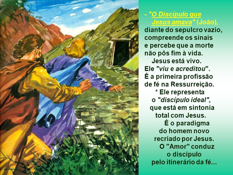 - Pedro, para quem a morte significava fracasso, recusava aceitar que a vida nova passasse pela humilhação da cruz. Para ele a Ressurreição de Jesus e