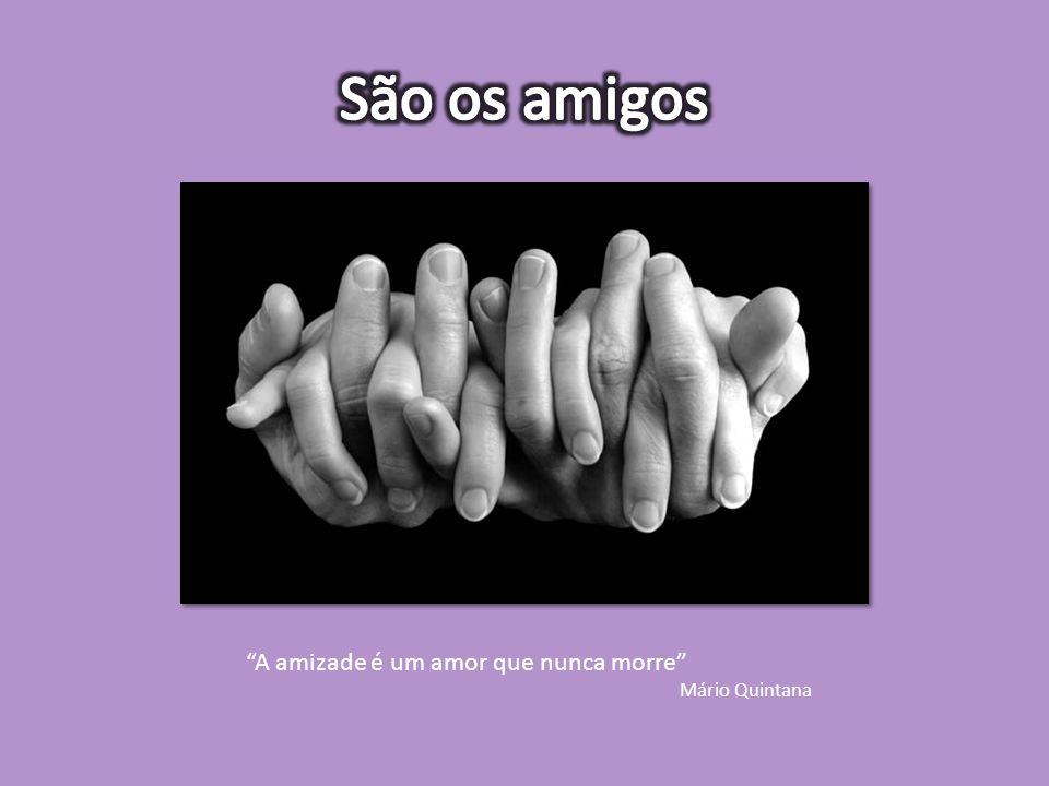 """""""A amizade é um amor que nunca morre"""" Mário Quintana"""