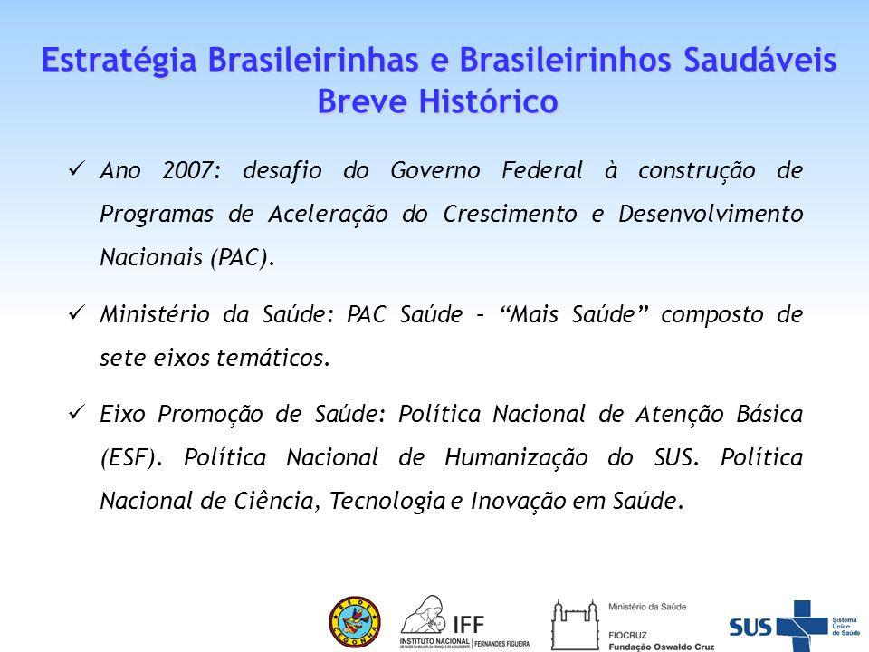 Parceria entre Fundação Oswaldo Cruz e Ministério da Saúde que considera a importância, em termos de política pública, da relação entre o crescimento e o desenvolvimento de uma nação e o amadurecimento de cada um de seus cidadãos.
