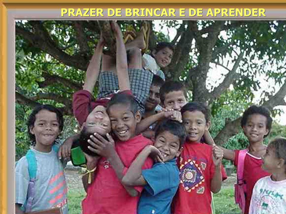 Que crianças deixamos para o mundo? Que mundo deixaremos para as crianças? PRAZER DE BRINCAR E DE APRENDER PRAZER DE BRINCAR E DE APRENDER
