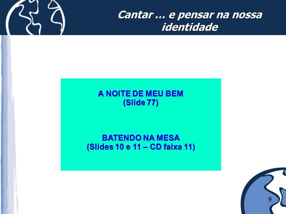 10 1. RESGATAR A IDENTIDADE DIFERENCIAÇÃO CULTURAL IDENTIFICAÇÃO