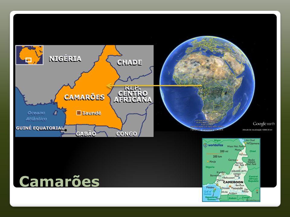 Camarões População Total (2011) – 20.030.362 habitantes Índice de Desenvolvimento Humano (2011)– 0,482 Esperança média de vida – 51,6 anos Taxa de Alfabetização de Adultos (2010) – 67,9 %