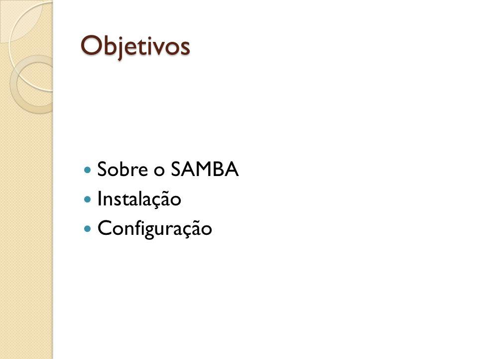 Objetivos Sobre o SAMBA Instalação Configuração