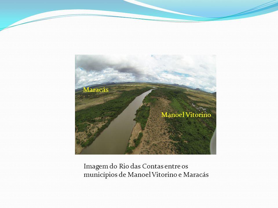 Imagem do Rio das Contas entre os municípios de Manoel Vitorino e Maracás Manoel Vitorino Maracás