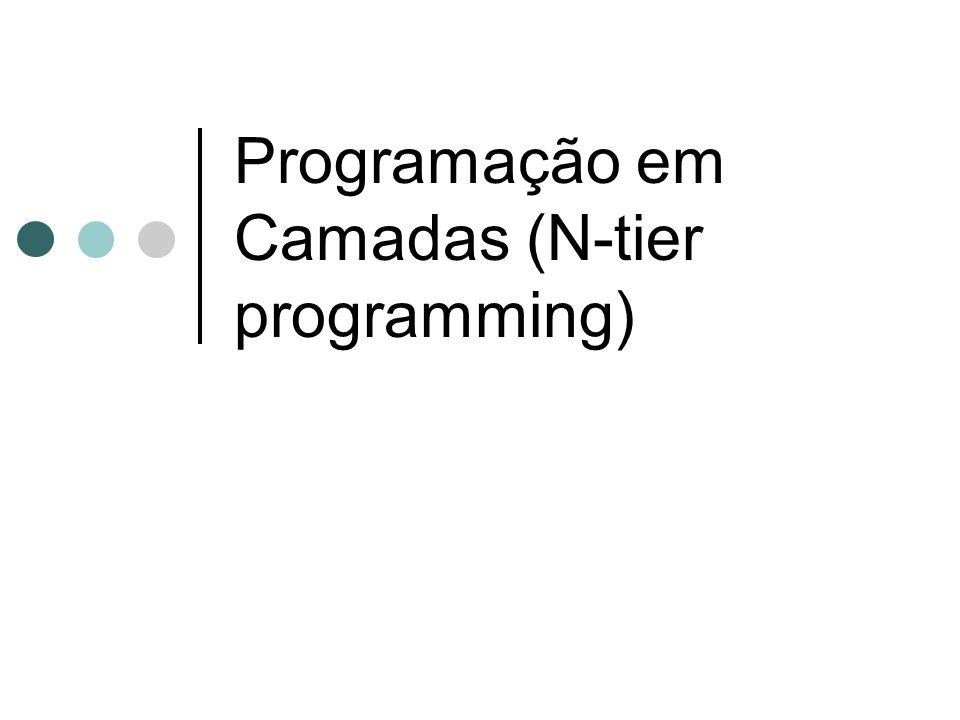 Programação em Camadas (N-tier programming)