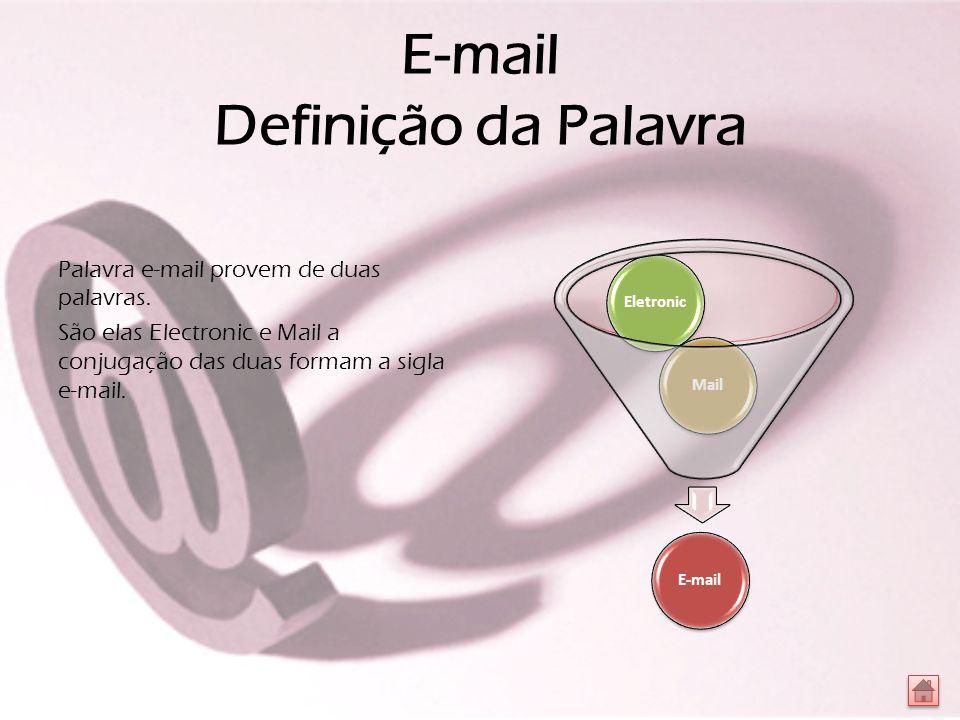 E-mail Definição da Palavra Palavra e-mail provem de duas palavras.