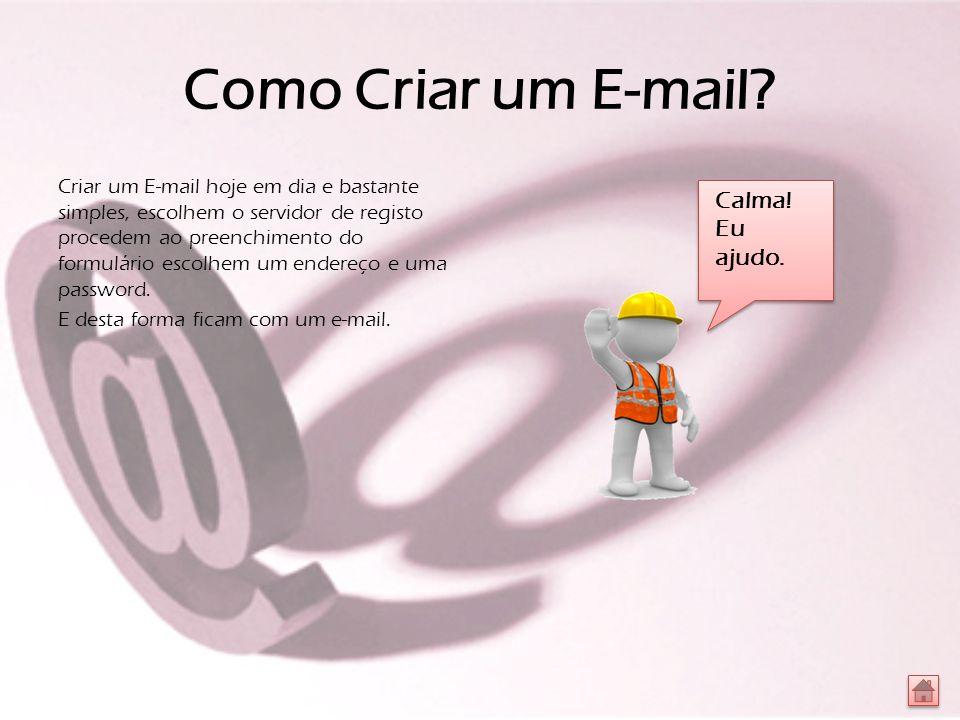 Como Criar um E-mail.