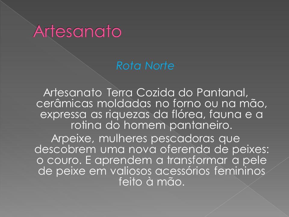 Rota Norte Artesanato Terra Cozida do Pantanal, cerâmicas moldadas no forno ou na mão, expressa as riquezas da flórea, fauna e a rotina do homem panta
