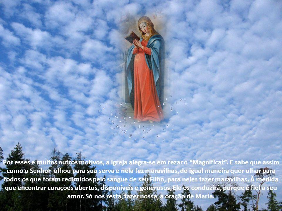 Vivendo uma experiência de Deus que deixava ela própria surpresa, Maria, que costumava guardar tudo em seu coração, foi buscar inspiração nele para su